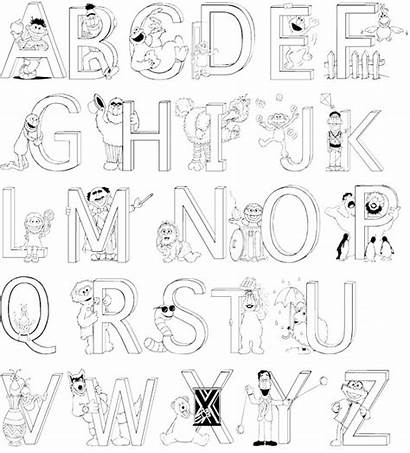Coloring Alphabet Pages Numbers Letter Alphabets Letters
