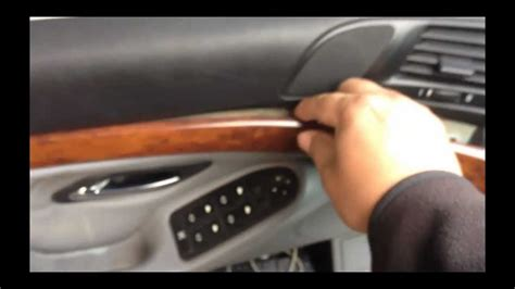 remove interior dash wood trim   bmw