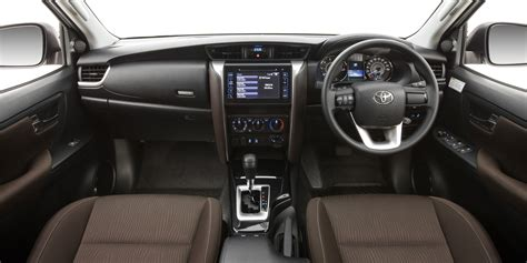 toyota fortuner interior revealed  caradvice