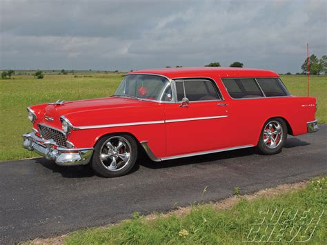 nomad car 1955 1955 chevy nomad 350 chevy engine super chevy magazine