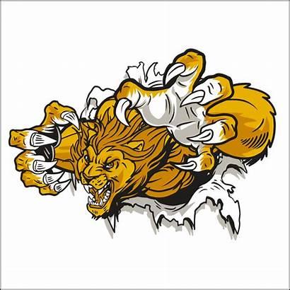 Mascot Lion Jaguar Clipart Clip Fierce Cliparts