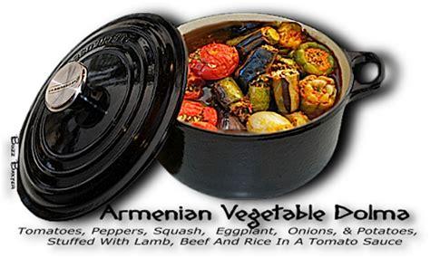 armenian dolma  variety  vegetables stuffed  meat