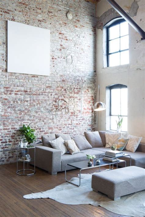 Ziegelstein Wand Wohnzimmer by Fascinating Exposed Brick Wall For Living Room 44 Hoommy