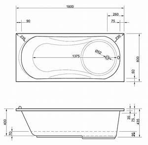 Badewanne Mit Dusche 180 X 80 Cm Mit Integrierter Duschwanne