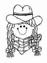 Cowgirl Coloring Printable Barbie Recommended Template sketch template