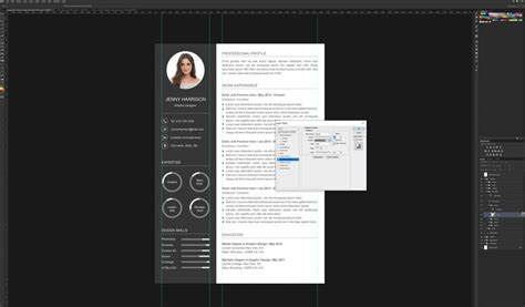 Photoshop Resume Template by How To Create A Resume Template In Photoshop Graphicadi