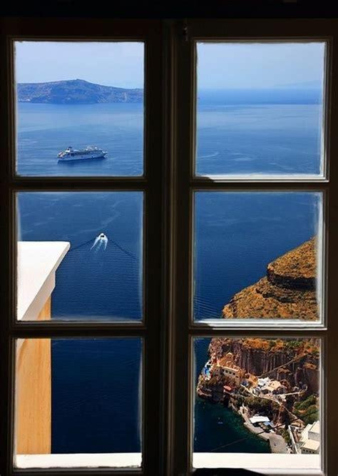 Ocean View Santorini Greece Doorways Windows And