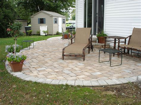Outside Patio Designs by Paver Patio Ideas For Enchanting Backyard Amaza Design
