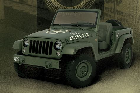 jeep wrangler military style wrangler 75th salute military jeep concept revealed video