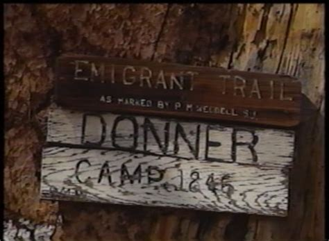 trail  tragedy  excavation   donner party site