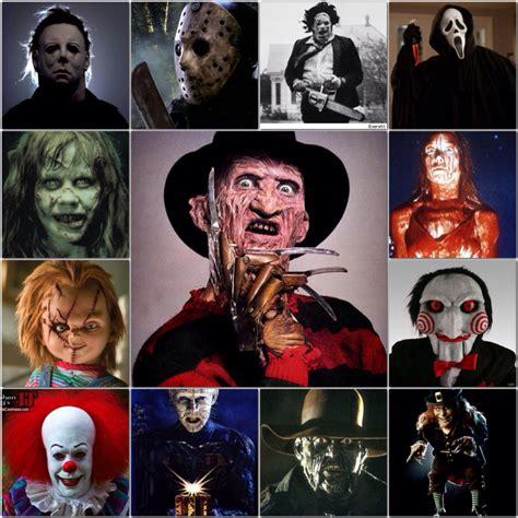 Horror Movie Villains  Collages  Pinterest Horror