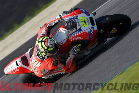 ducati completes mugello test iannone dislocates shoulder