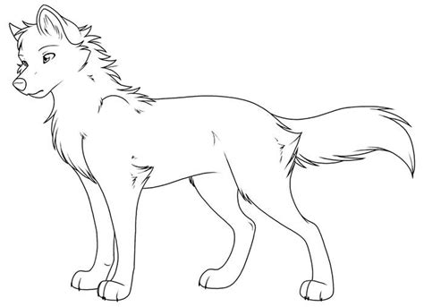wolf template animal templates