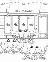 Restaurant Coloriage Coloring Imprimer Artherapie Colorir Tous Adult Mandala Gratuit Dessin Colorier Colouring Restaurants Pintar Halloween Paisagens Freepik Dibujos Imagenes sketch template