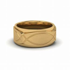 infinity texture square gold mens wedding band ring in 14k With infinity wedding ring gold