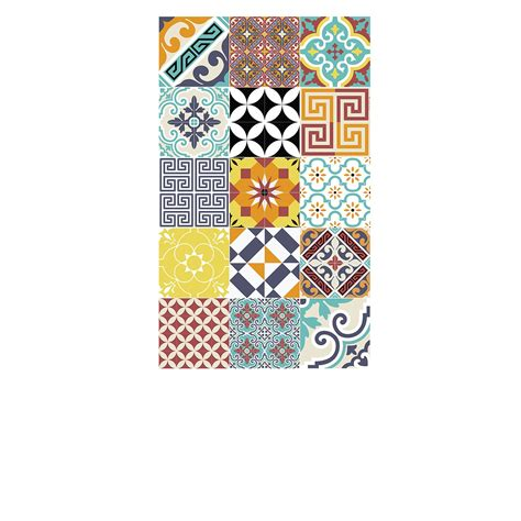 batteries de cuisine tapis vinyle eclectic multicolore 60 x 97 cm beija