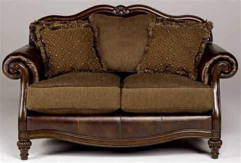 claremore antique loveseat from ashley 8430335 coleman