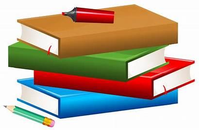 Pencil Clipart Books Marker Transparent Libros Clip