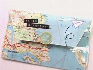 Upcycling Ideen Papier : reisedokumentenmappe aus atlasseite travel papers 39 organizer made from atlas page upcycling ~ Eleganceandgraceweddings.com Haus und Dekorationen