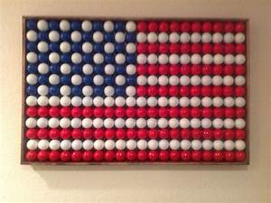 American flag made of golf balls Chesterfield, MO Patch
