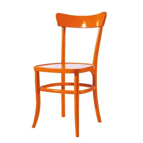 chaises orange chaise orange bistrot maisons du monde