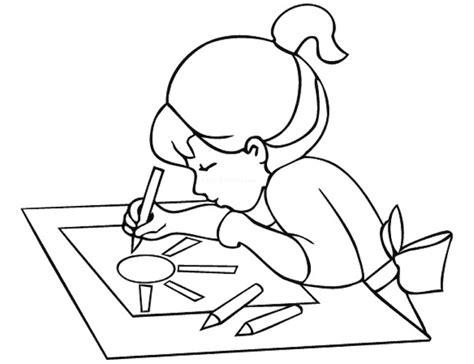 cose da colorare sul computer bambina alla scrivania da colorare cose per crescere