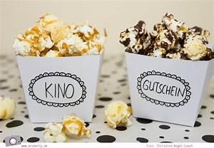 Geschenktipp DIY: Kino Gutschein mit Popcorn