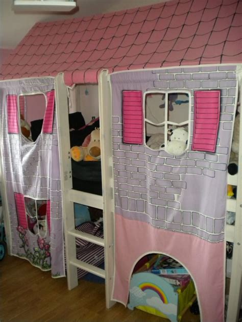 comment faire un cache sommier en tissu lit mi hauteur cabane pour fille pas cher priceminister d 233 co chambre enfant tente de lit