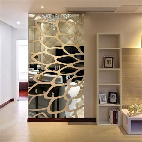 modern mirror wall stickers acrylic  wall surface