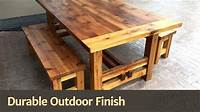 nice wood patio table Durable Outdoor Finish - YouTube