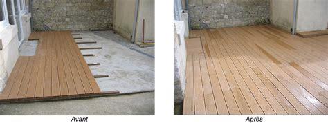 terrasse bois sur dalle beton terrasse en bois composite sur dalle beton nos conseils