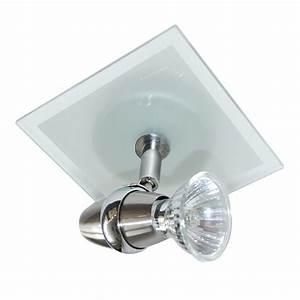 Ring plato glass single ceiling spotlight from litecraft