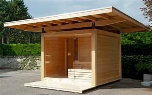 kit gazebo bois affordable pergola pas cher castorama With sauna exterieur en kit