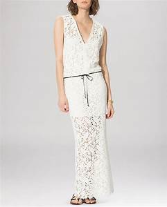 maje dress rihanna lace maxi bloomingdale39s With robe maje blanche