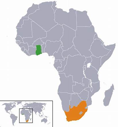 Ghana Africa South Relations Wikipedia Map African
