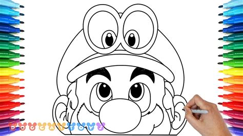 How To Draw Super Mario Odyssey 5 Drawing Coloring