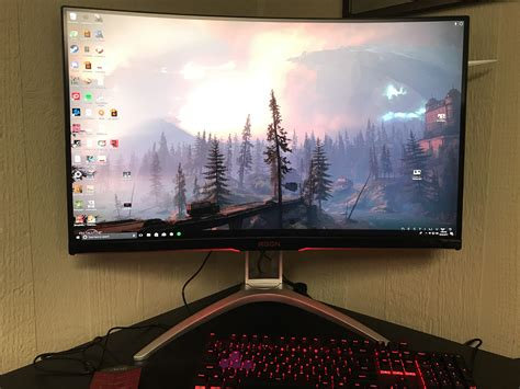 aoc agon ag322qcx curved gaming monitor review ign