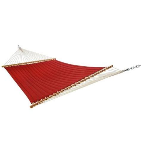 hammock home depot 13 ft olefin quilted hammock in qhdred the home depot