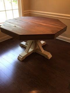 octagon table    home projects  ana