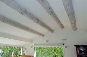 saskia je cherche a eclaircir mes poutres cote maison With commentaire peindre une poutre en bois