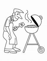 Coloring Grill Apron Pages Template Father sketch template