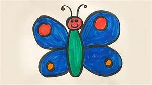 How To Draw And Color A Butterfly -for Kids