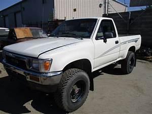1990 Toyota Truck White 2 4l Mt 4wd Z15025