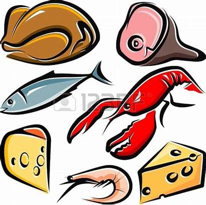 Meat Fish Cooked Clipart Chicken Raw Animated