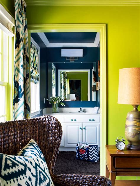 Hgtv Bathrooms Makeovers Small by Bold And Trendy Small Bathroom Makeover Hgtv