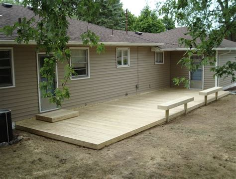 level concrete patio plan free standing ground level deck plans jbeedesigns