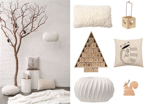 decoration de noel et blanc decoration cosy neve design