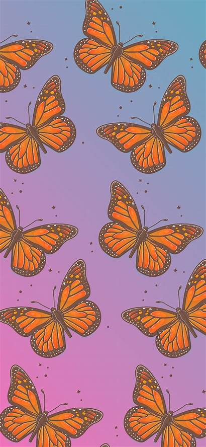 Butterfly Pattern Wallpapers Aesthetic