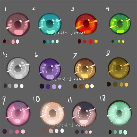 Anime Eye Palette Eye Swatches By Overlord Jinral Deviantart On