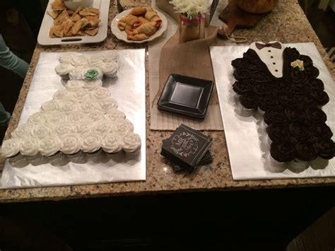 bride  groom cupcake cakes food snacks pinterest